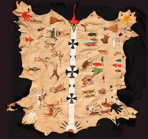Cheyenne Animal Ceremony (Painted Buffalo Hide)